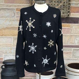 Victoria Jones Vintage 90's Snowflake Sweater